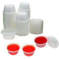 Clear Plastic Chutney Sauce Cups With Lids